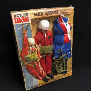 ACTION MAN - RED DEVIL - 1960's Uniform  Card Stars Intact.